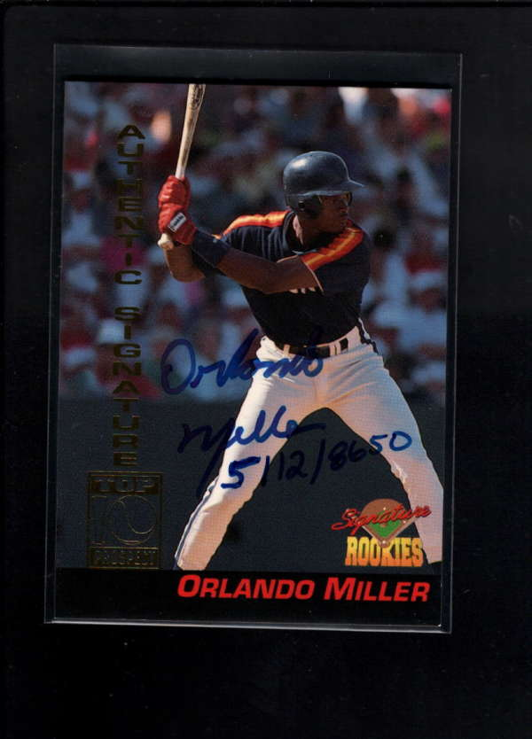 1994 Signature Rookies 11 Orlando Miller Authentic On Card Auto Ax3047 Ebay